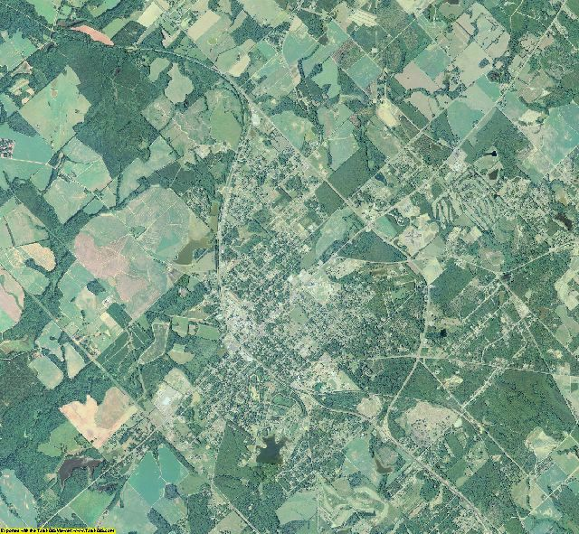 Bleckley County, Georgia aerial photography