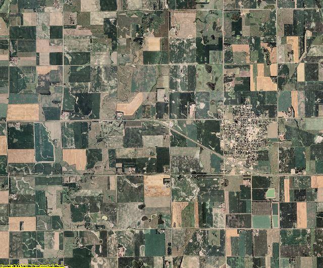 Bon Homme County, South Dakota aerial photography