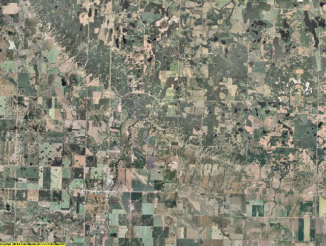 Bottineau County, North Dakota aerial photography