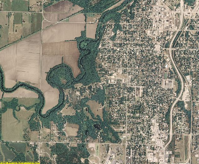 Bourbon County, Kansas aerial photography