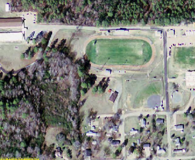 Bradley County, AR aerial photography detail