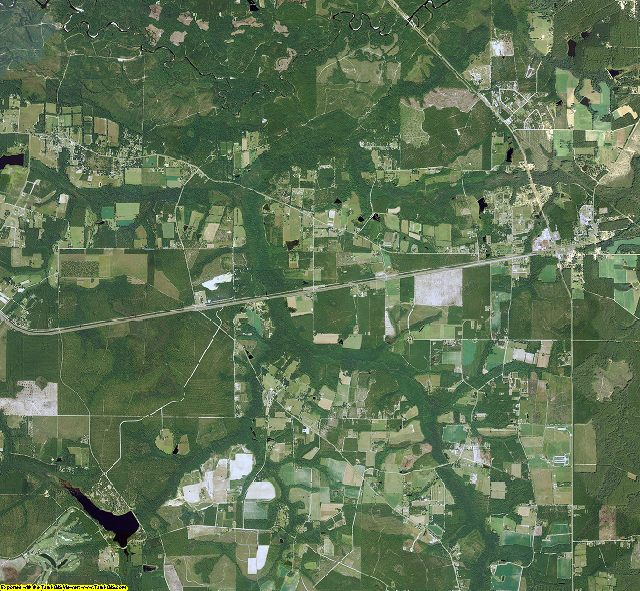 Brantley County, Georgia aerial photography
