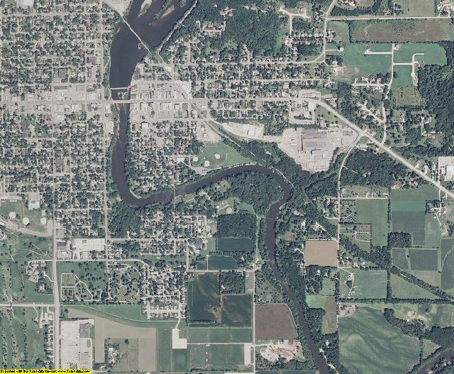 Bremer County, Iowa aerial photography