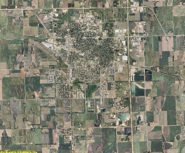 Brookings County, South Dakota aerial photography