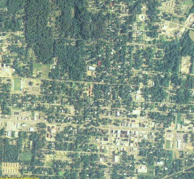 Brooks County, GA aerial photography detail