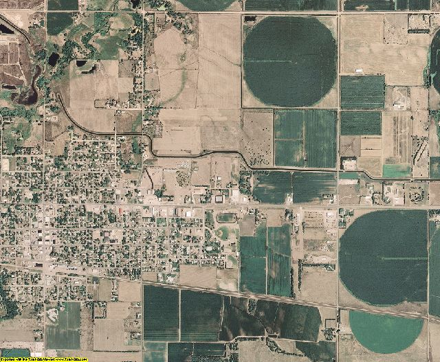 Brown County, Nebraska aerial photography