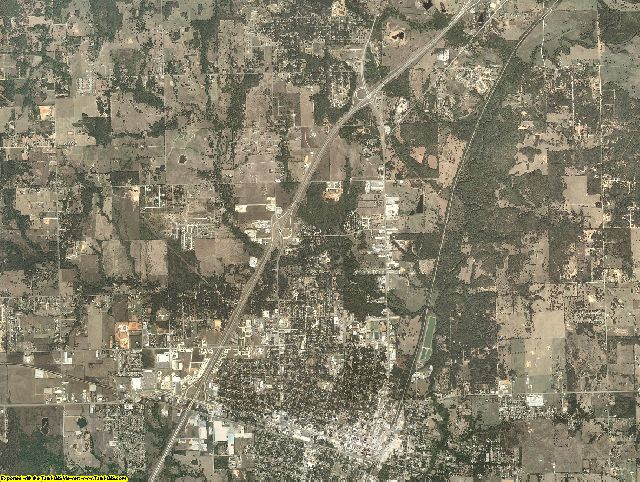 Bryan County, Oklahoma aerial photography