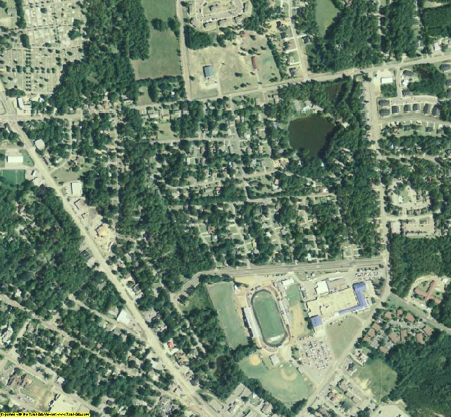 Bulloch County, GA aerial photography detail