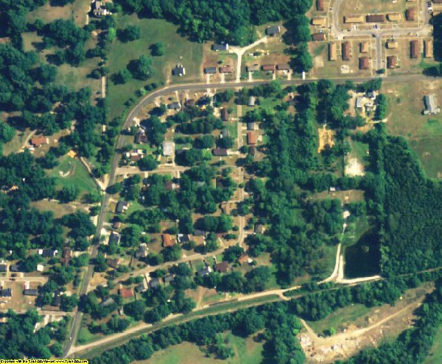 Bullock County, AL aerial photography detail
