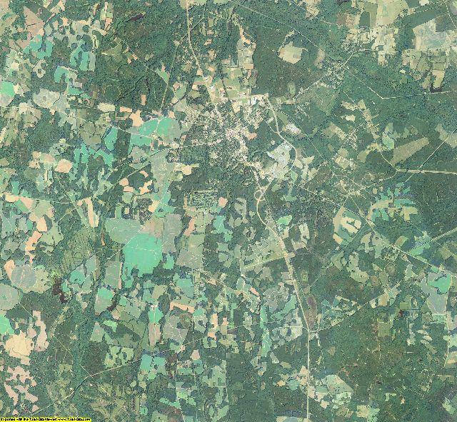 Burke County, Georgia aerial photography