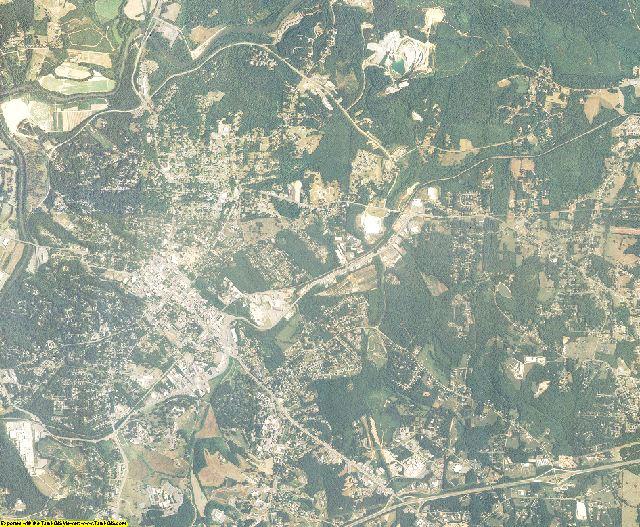 Burke County, North Carolina aerial photography