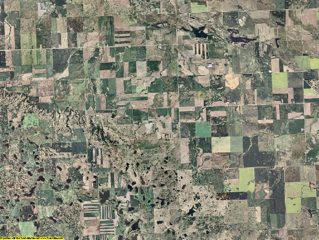 Burke County, North Dakota aerial photography