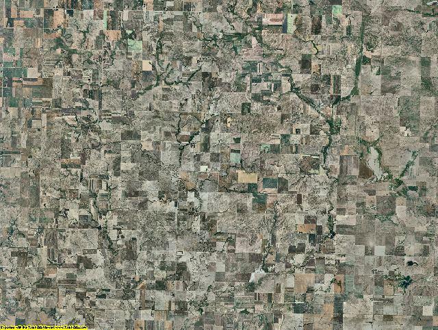 Burleigh County, North Dakota aerial photography