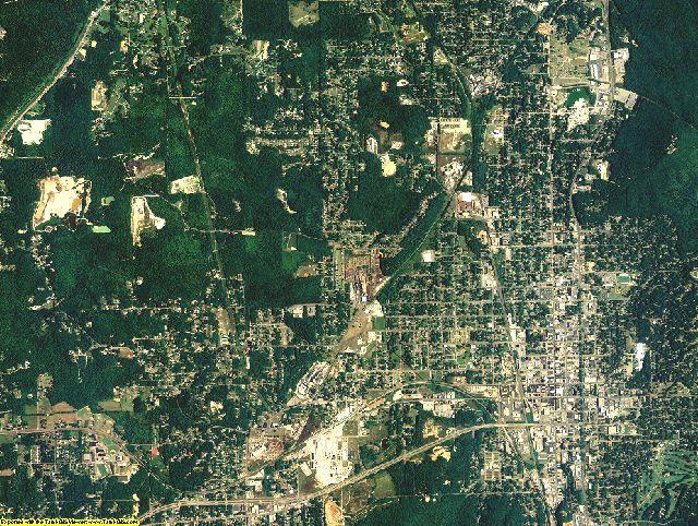 Calhoun County, Alabama aerial photography