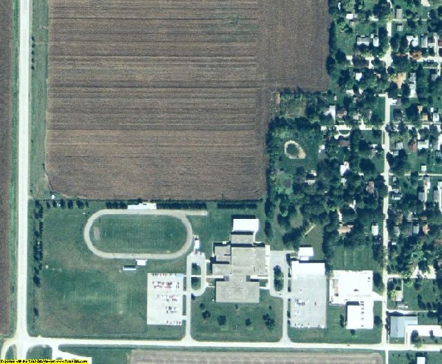 Calhoun County, IA aerial photography detail