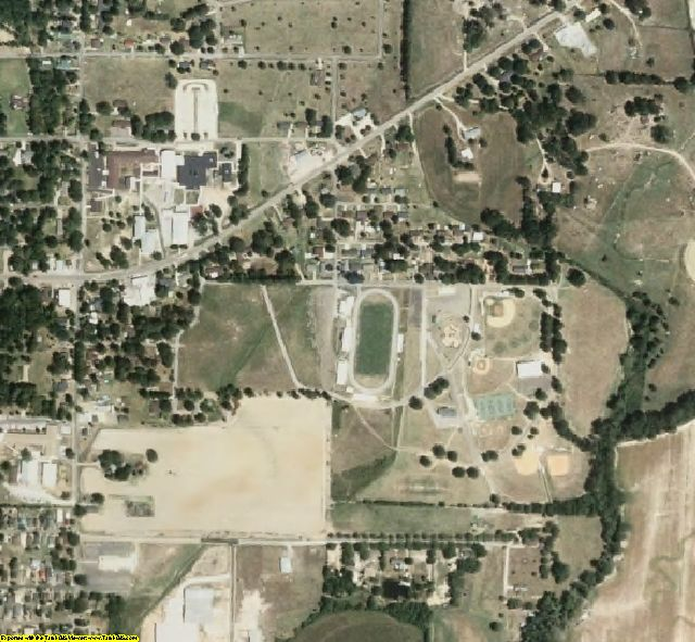 Calhoun County, MS aerial photography detail