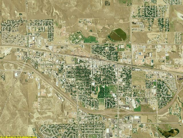Campbell County, Wyoming aerial photography