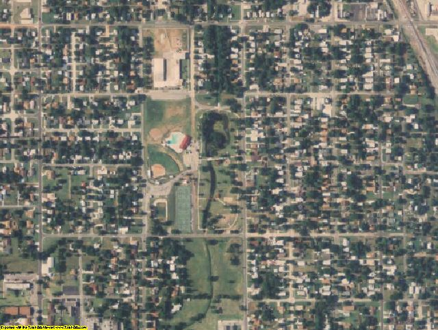 Canadian County, OK aerial photography detail