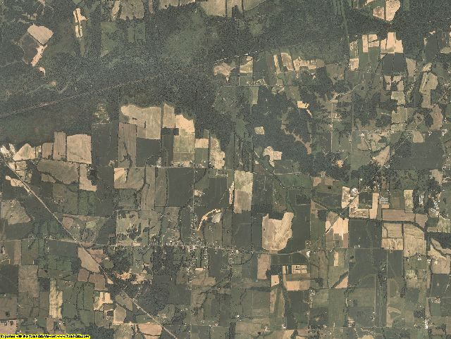 Carlisle County, Kentucky aerial photography