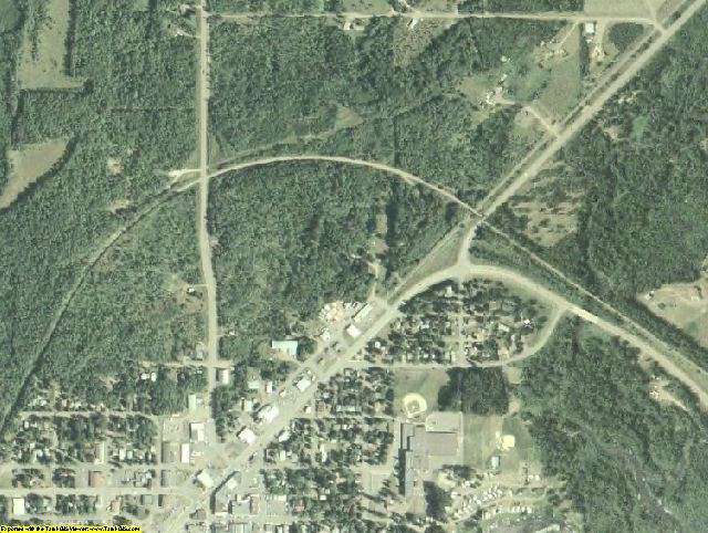 Carlton County, MN aerial photography detail