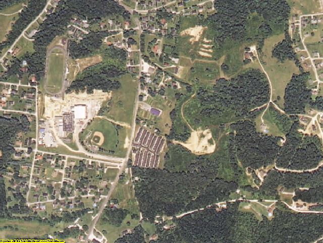Carter County, KY aerial photography detail