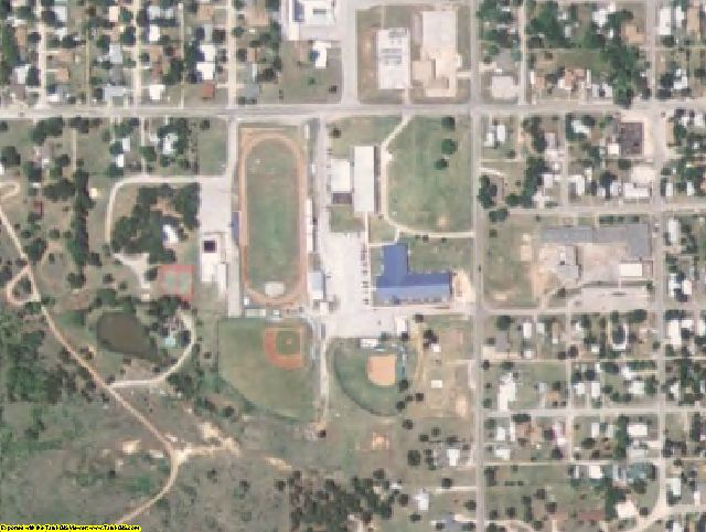 Carter County, OK aerial photography detail