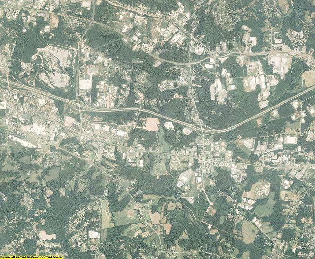 Catawba County, North Carolina aerial photography
