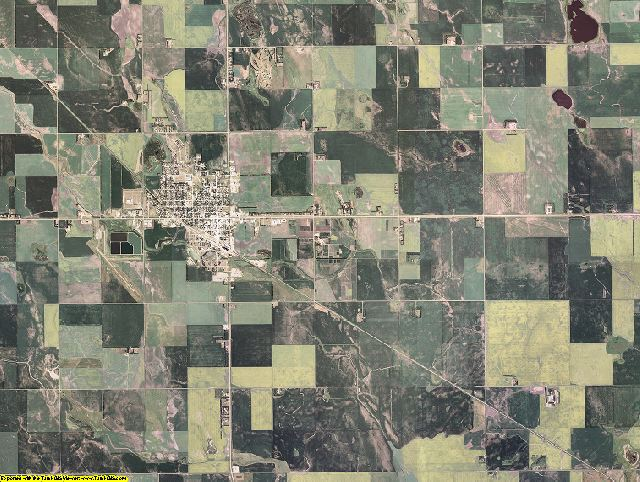 Cavalier County, North Dakota aerial photography