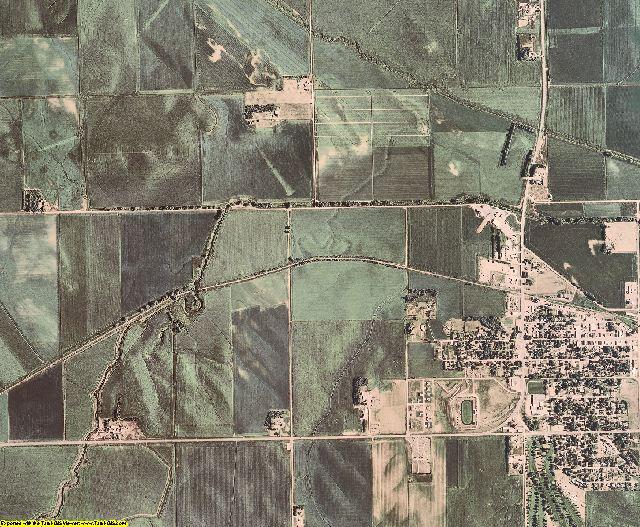 Cedar County, Nebraska aerial photography