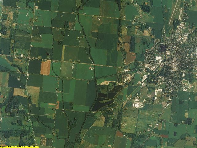 Champaign County, Ohio aerial photography