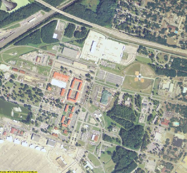 Chatham County, GA aerial photography detail