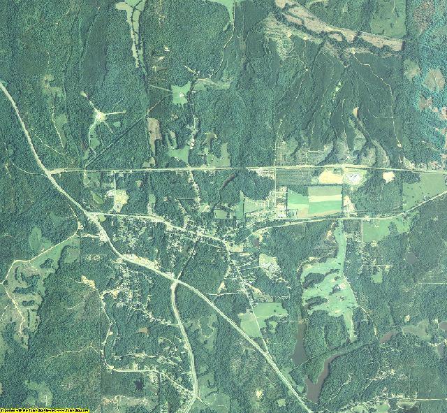 Chattahoochee County, Georgia aerial photography