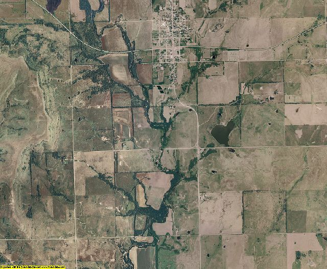 Chautauqua County, Kansas aerial photography