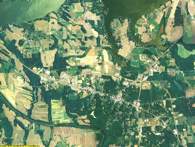 Cherokee County, Alabama aerial photography