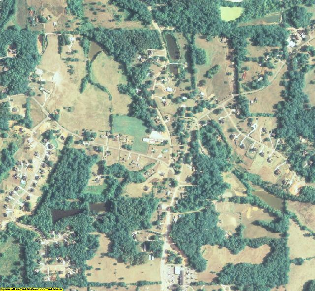 Cherokee County, GA aerial photography detail