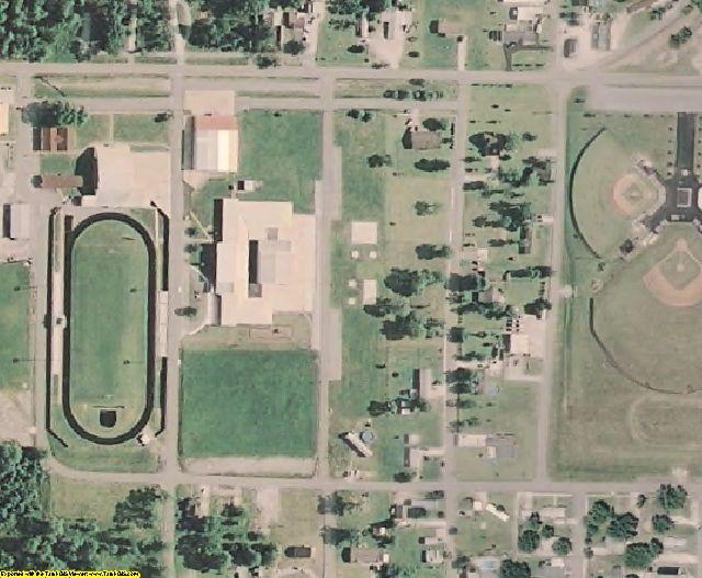 Cherokee County, KS aerial photography detail