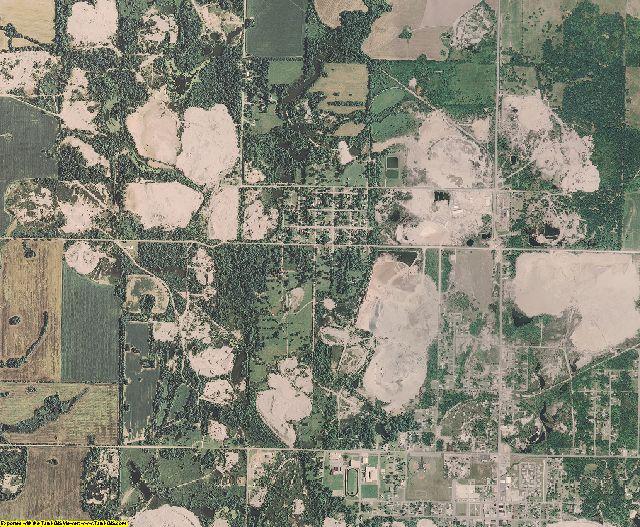 Cherokee County, Kansas aerial photography