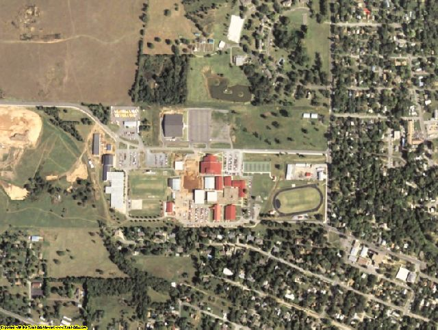 Cherokee County, OK aerial photography detail