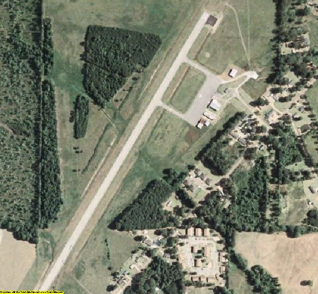 Chickasaw County, MS aerial photography detail