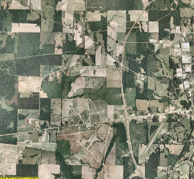 Chickasaw County, Mississippi aerial photography