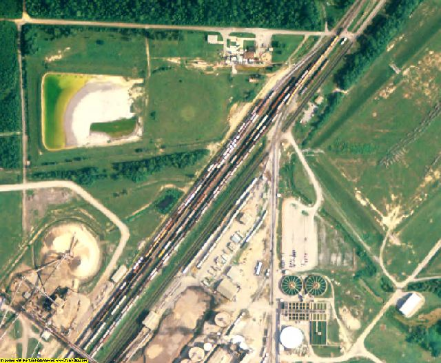 Choctaw County, AL aerial photography detail