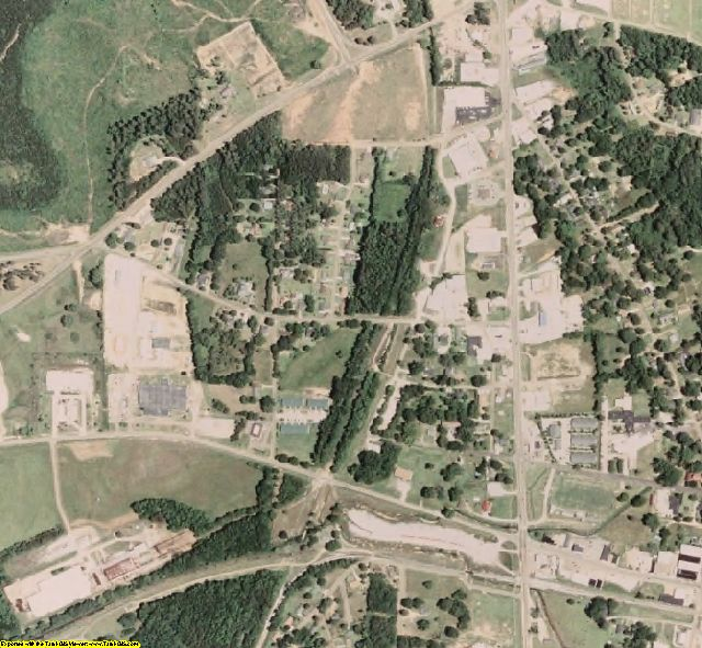 Choctaw County, MS aerial photography detail