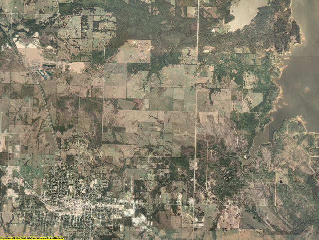 Choctaw County, Oklahoma aerial photography