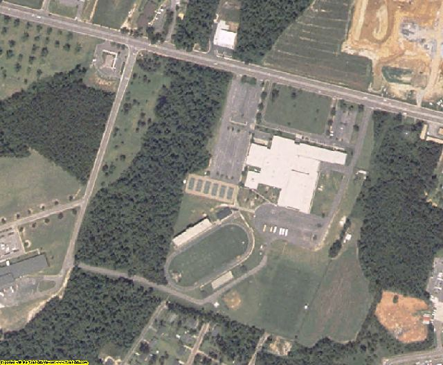 Clarendon County, SC aerial photography detail