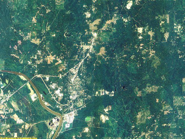 Clarke County, Alabama aerial photography