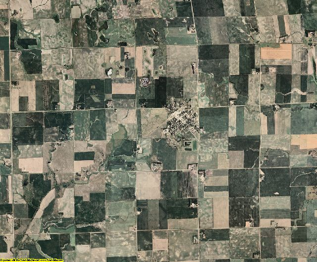 Clay County, South Dakota aerial photography