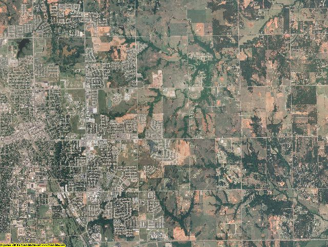 Cleveland County, Oklahoma aerial photography