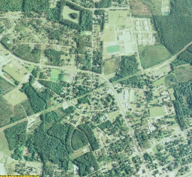 Clinch County, GA aerial photography detail