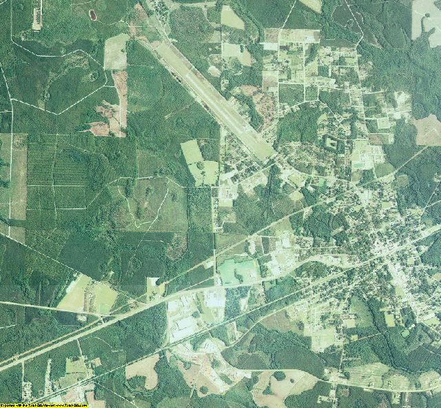 Clinch County, Georgia aerial photography