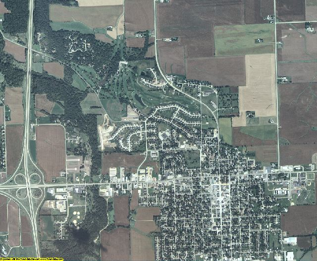 Clinton County, Iowa aerial photography